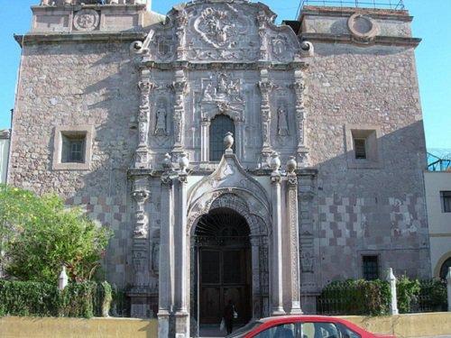 Paseo por Mexico El Templo de la Merced o del Rosario en Aguascalientes