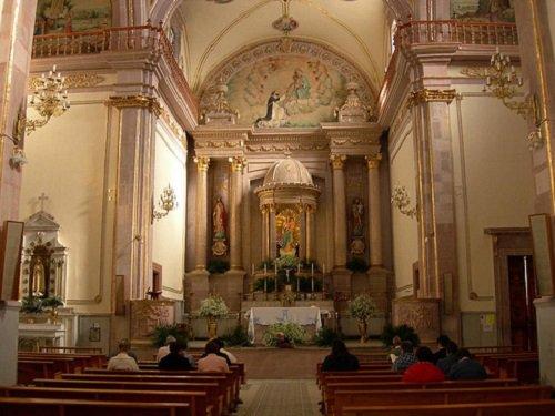 Paseo por Mexico Interior del Templo de la Merced o del Rosario en Aguascalientes
