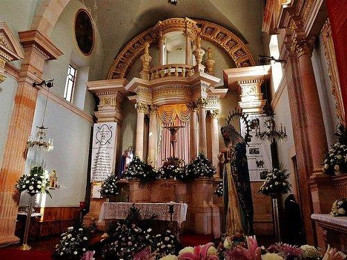 Paseo por Mexico Interior de la Parroquia Señor de las Angustias en Rincón de Romos