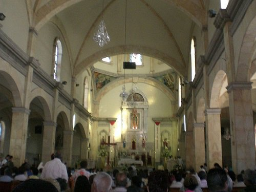 Paseo por Mexico Interior de la Catedral El Santuario de Nuestra Señora de Guadalupe de Ensenada