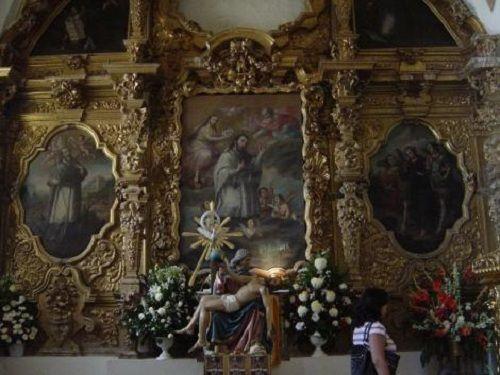 Paseo por Mexico Cuadros del Santuario de la la Virgen de Dolores en Acatzingo
