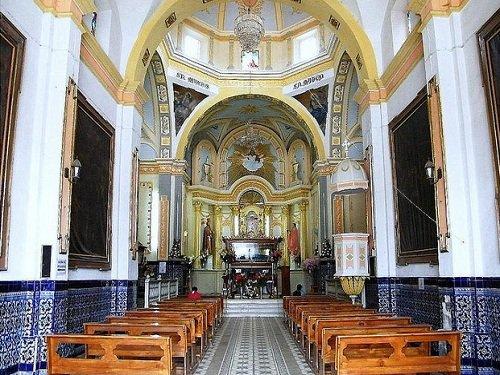Paseo por Mexico Interior de la Iglesia del Calvario en Atempan