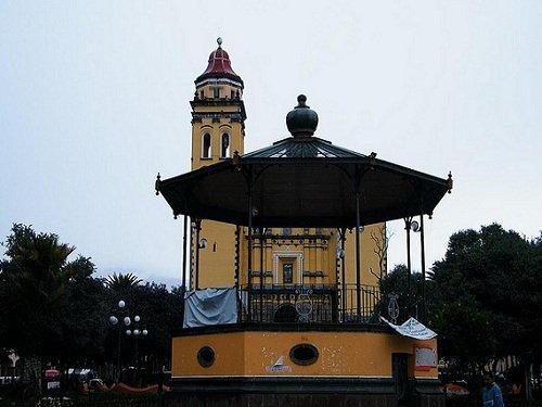 Paseo por Mexico Kiosco y parque municipal de Chalchicomula de Sesma