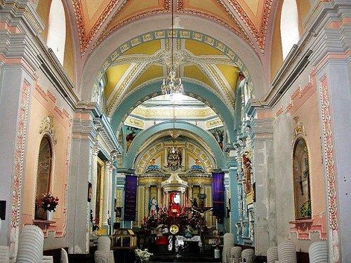 Paseo por Mexico Interior Templo parroquial San Lorenzo Mártir en Chiautzingo