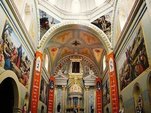 Paseo por Mexico Interior de Iglesia Parroquial de San Juan Bautista en Coxcatlán