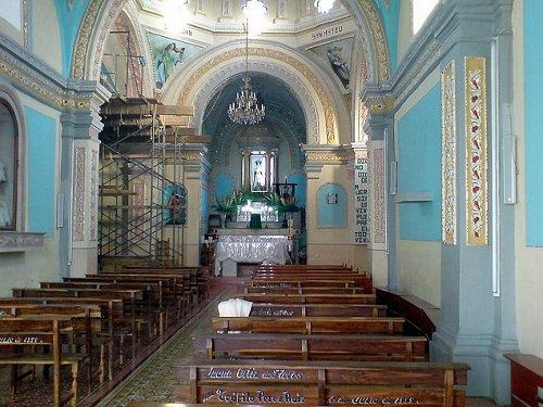 Paseo por Mexico Interior de la Iglesia parroquial de Santa Catarina en Cuapiaxtla de Madero