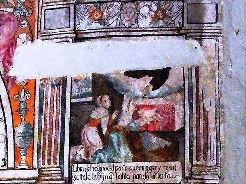 Paseo por Mexico Pinturas de ex convento Franciscano de Cuautinchán