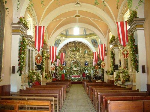 Paseo por Mexico Interior de Iglesia de San Pablo en General Felipe Angeles