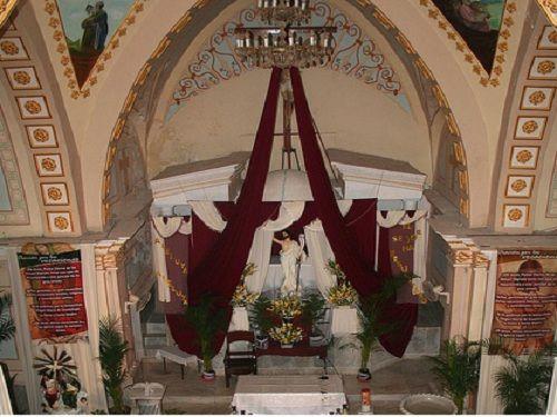 Paseo por Mexico Interior de Iglesia de Santa Catarina Mártir en Ixcamilpa de Guerrero
