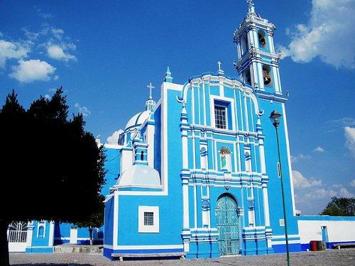 Paseo por Mexico Templo parroquial de Santa María de la Asunción en Molcaxac