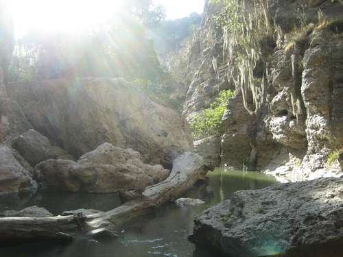 Paseo por Mexico Las grutas del puente de Dios de Molcaxac
