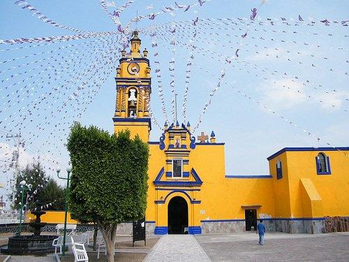 Paseo por Mexico Templo de San Bernabé Temoxtitla en Ocoyucan