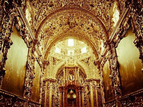 Paseo por Mexico Capilla del Rosario en Puebla
