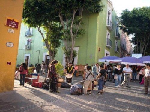 Callejón de John Lennon en el Centro Histórico de Puebla