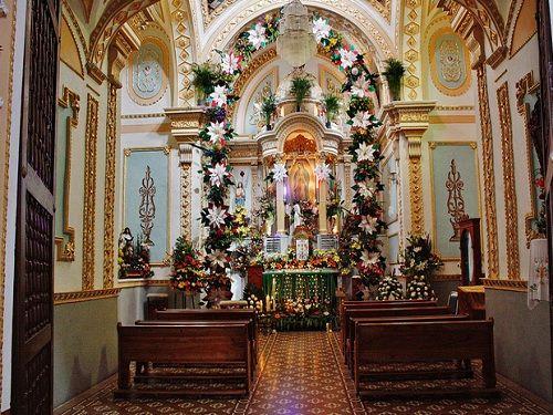 Paseo por Mexico Interior de Parroquia de San Luis en San Andrés Cholula