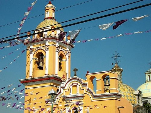 Paseo por Mexico Iglesia Santiago Xicozingo en San Andrés Cholula