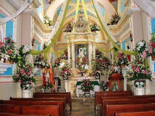 Paseo por Mexico Interior de Iglesia de Santiago Cuayantla en San Andrés Cholula