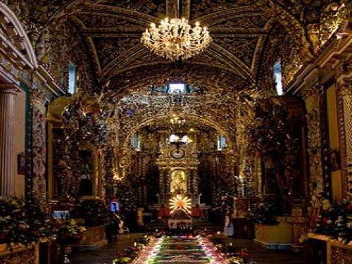Paseo por Mexico Interior de Iglesia de Santa María Tonantzintla en San Andrés Cholula