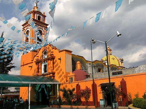 Paseo por Mexico Iglesia de Santiago Apóstol en San Nicolás de los Ranchos