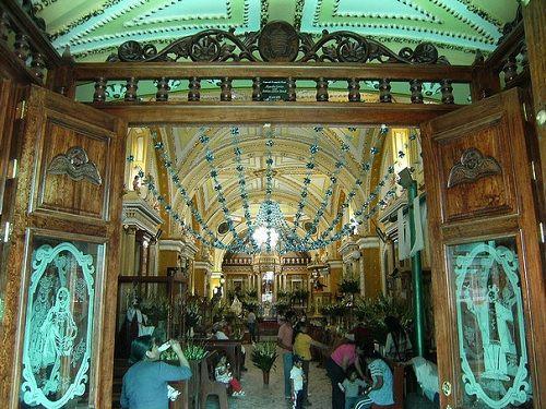 Paseo por Mexico Interior de Iglesia de Santiago Apóstol en San Nicolás de los Ranchos