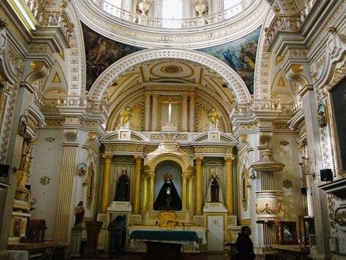 Paseo por Mexico Interior de Templo de La Santa Cruz de Jerusalén en San Pedro Cholula