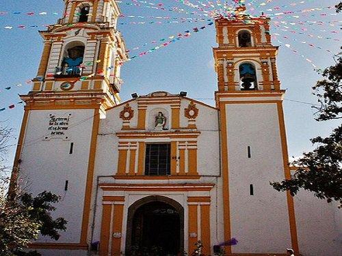 Paseo por Mexico Templo de Santa Barbara Almoloya en San Pedro Cholula
