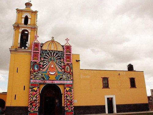 Paseo por Mexico Templo de San Pedro Mexicalzingo en San Pedro Cholula