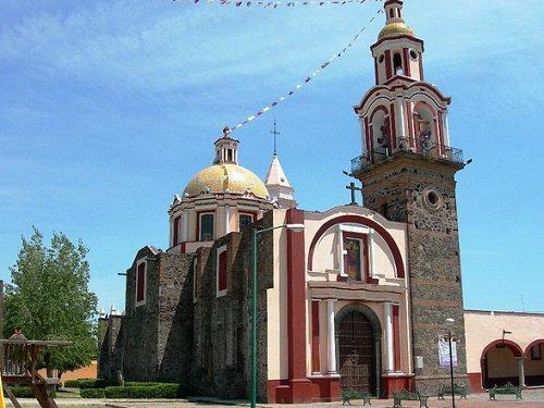 Paseo por Mexico Templo San Pablo Tecamac en San Pedro Cholula