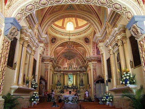Paseo por Mexico Interior de Iglesia del Barrio de Jesús Tlatempan en San Pedro Cholula