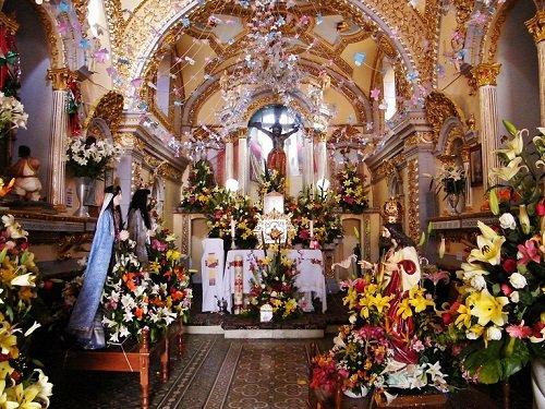 Paseo por Mexico Interior de Templo de San Pablo en Santa Isabel Cholula