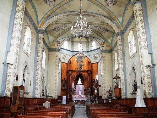 Paseo por Mexico Interior de Iglesia de la Virgen del Rosario en Teteles de Avila Castillo