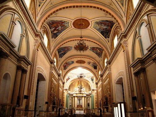 Paseo por Mexico Interior de Iglesia de la Santa Cruz en Tlacotepec de Benito Juárez