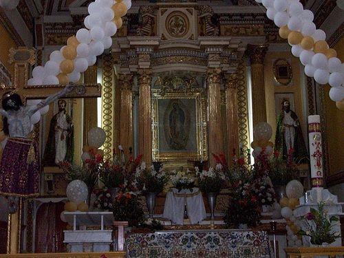 Paseo por Mexico Interior de Iglesia Parroquial dedicada a San Pedro en Tlaltenango
