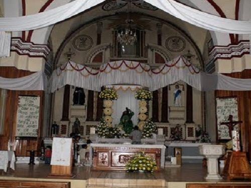 Paseo por Mexico Interior de Templo Parroquial Transfiguración del Señor en Tuzamapan de Galeana