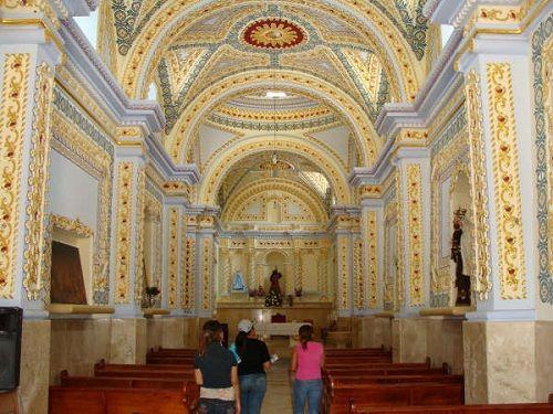 Paseo por Mexico Interior de la iglesia de San Juan Evangelista en Zacapala