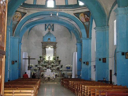 Paseo por Mexico Interior de Templo en advocación de la Virgen de la Natividad en Zapotitlán de Méndez
