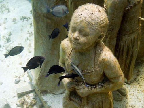 Paseo por Mexico Museo Subacuático de Arte (MUSA) en Isla Mujeres