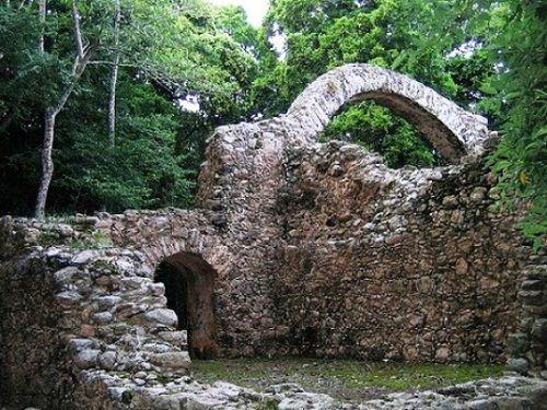 Paseo por Mexico Zona Arqueológica de Oxtankah en Othón P. Blanco