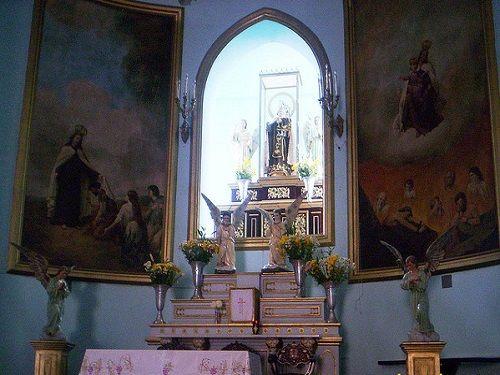 Paseo por Mexico Interior de la Parroquia de Nuestra Señora del Carmen en Chiautempan