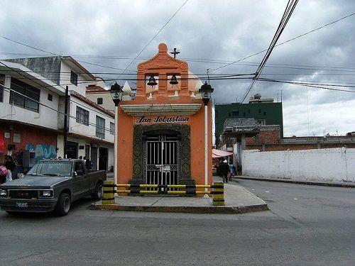 Paseo por Mexico La Capilla de San Sebastián en Chiautempan
