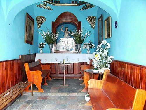 Paseo por Mexico Interior de la Capilla de San Sebastián en Chiautempan