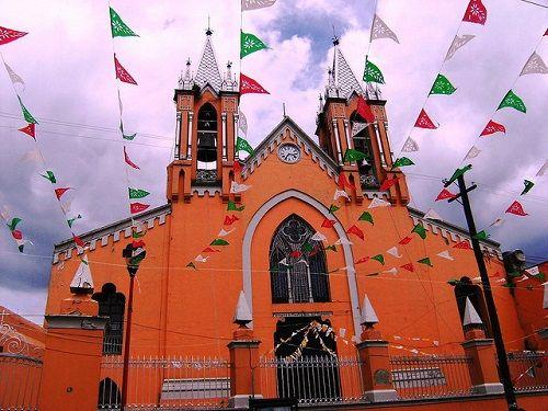 Paseo por Mexico Parroquia de Nuestra Señora del Carmen en Chiautempan
